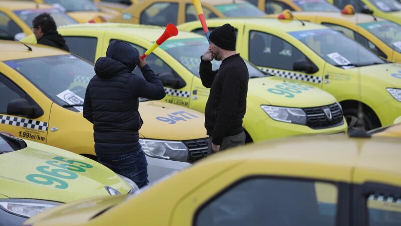 Prostest al taximetristilor