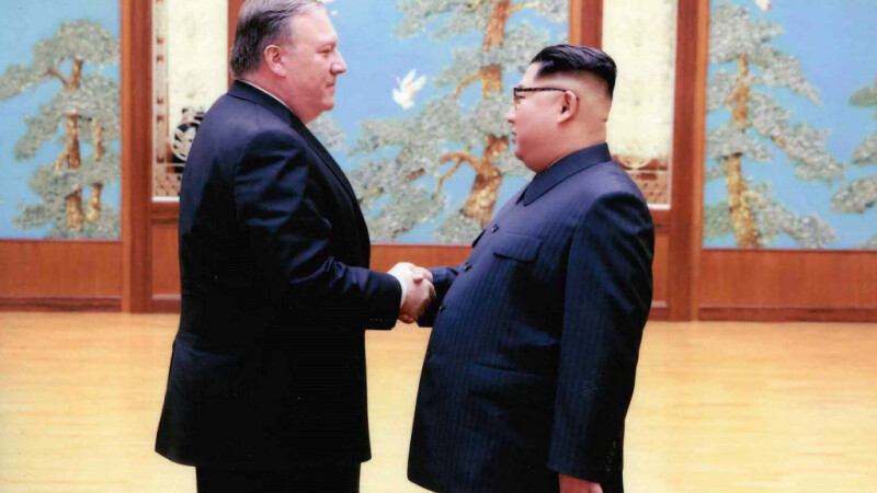 Kim Jong-un, Mike Pompeo
