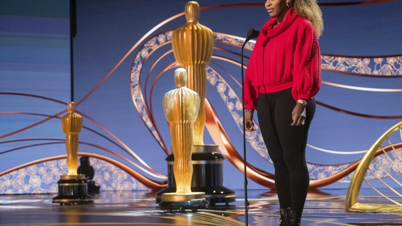 Serena Williams la repetitiile pentru Gala Premiilor Oscar