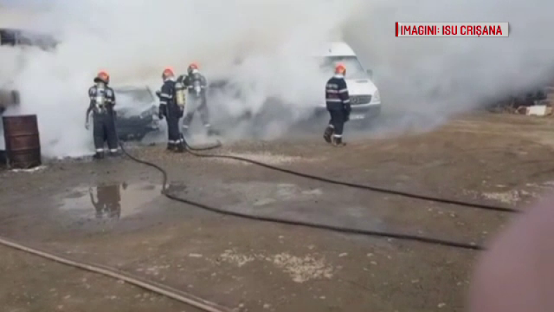 incendiu masina Oradea