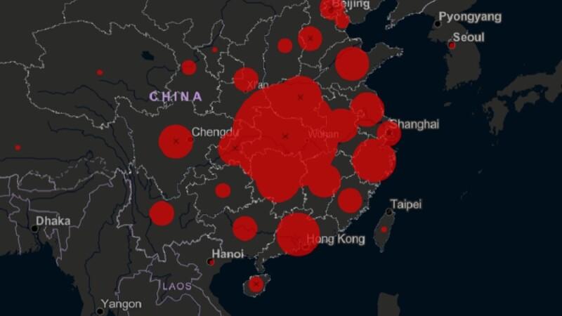Harta care arată LIVE răspândirea virusului ucigaș