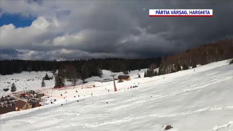 Cum arată pârtia de schi din Harghita construită cu banii guvernului maghiar. Are un succes răsunător