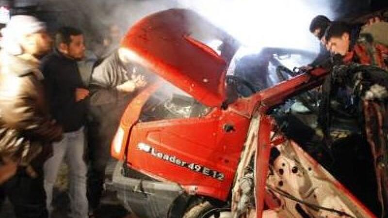 Gaza masina incendiata
