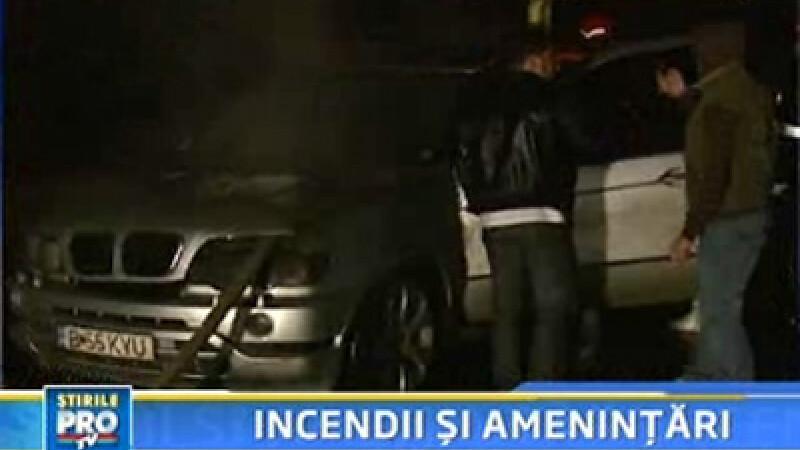 Atac in stil mafiot in Capitala! Trei masini distruse de flacari!