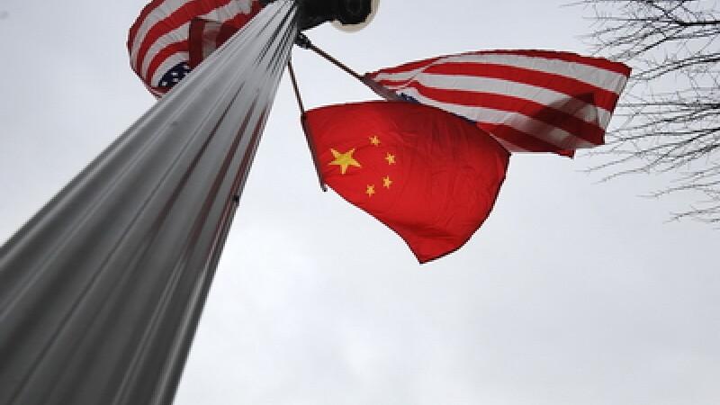 Steagurile SUA si China
