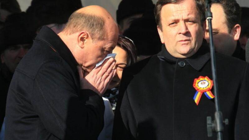 Traian Basescu si Gheorghe Flutur