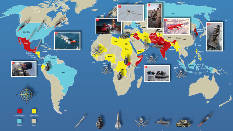 Harta mondiala a conflictelor Lumii