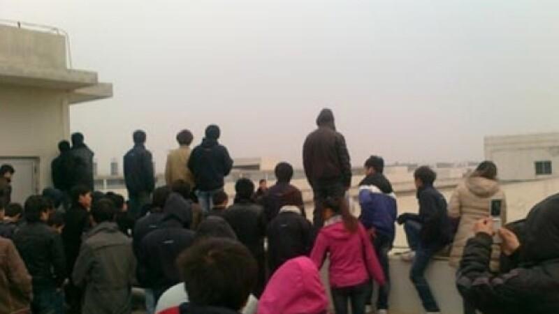 protest, muncitori China