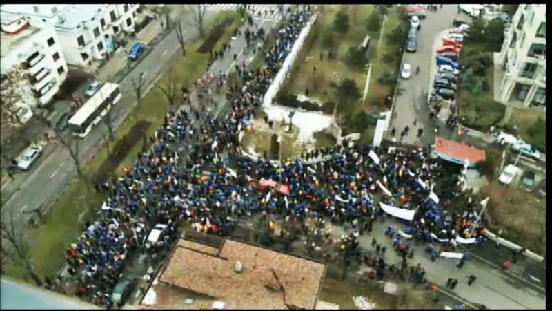 protest la TVR
