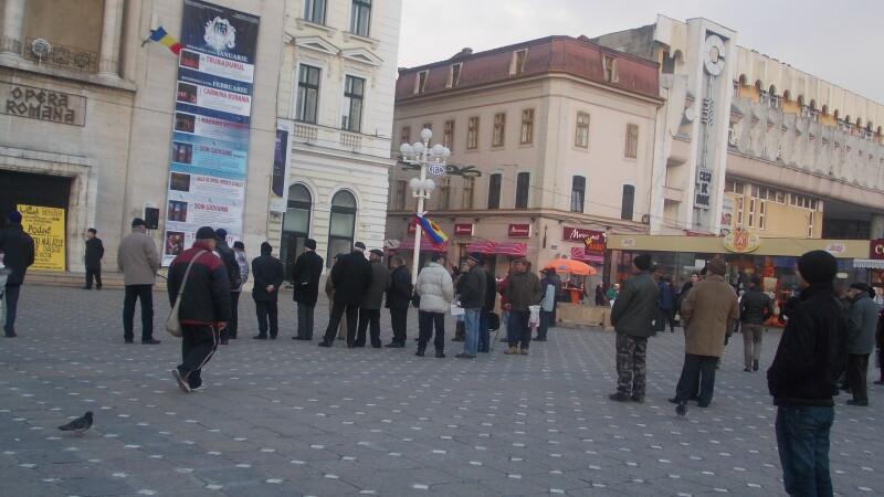 Ziua a 17-a. Protestele au cotinuat timid in Piata Operei