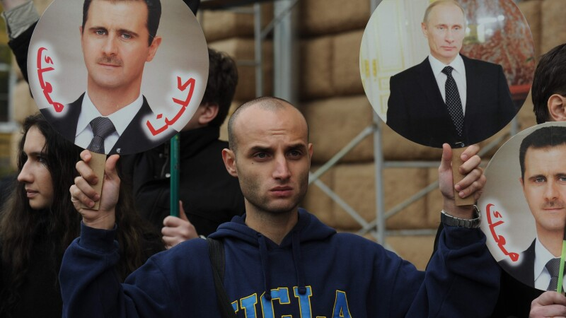 Bashar al-Assad, Vladimir Putin