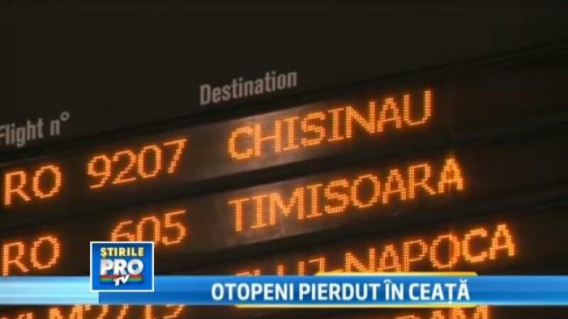 Ceata a dat peste cap traficul aerian de pe aeroportul Otopeni. Un zbor spre Chisinau a fost anulat