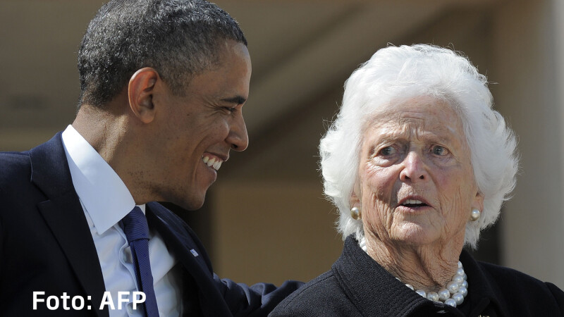 barbara Bush si Obama