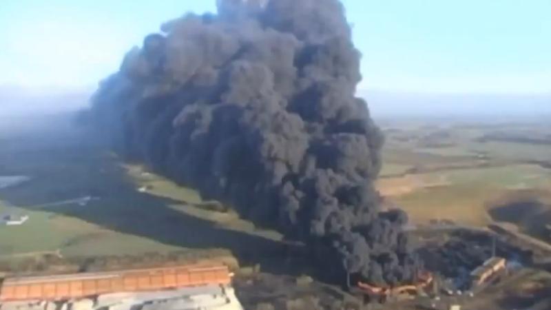 Incendiu in Yorkshire