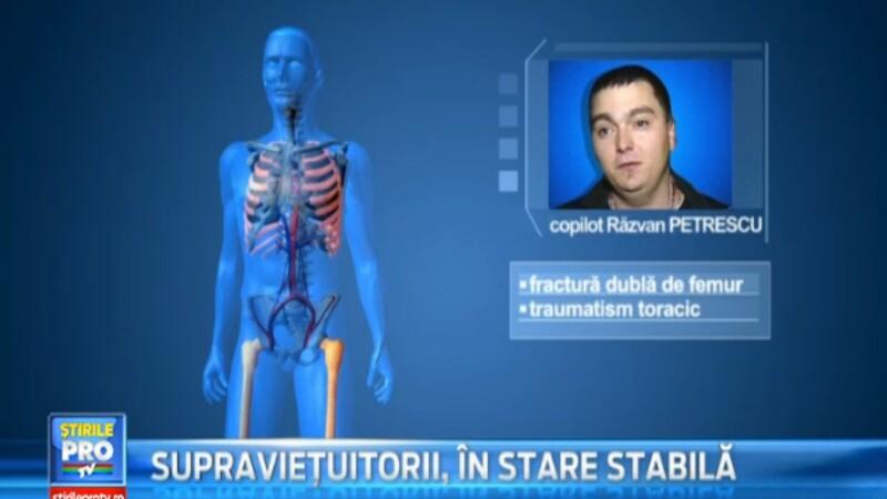 Starea copilotului Ravan Petrescu. Accidentul aviatic a lasat urme dureroase