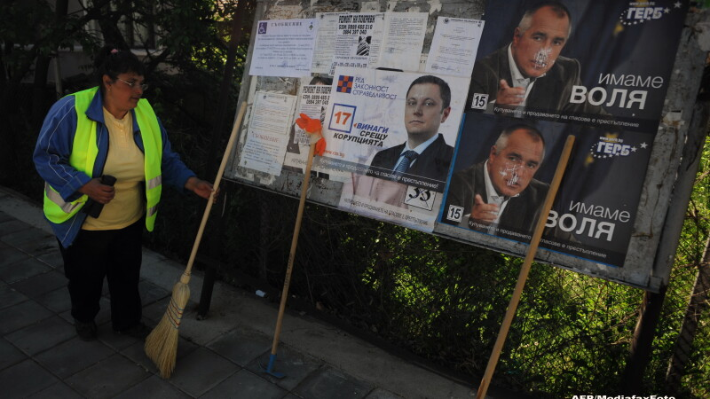 panouri electorale in Bulgaria