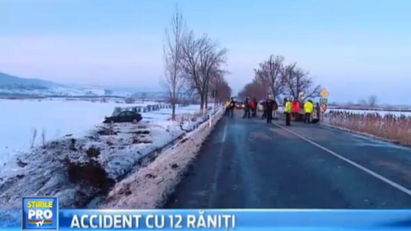 12 persoane au fost ranite, intr-un accident grav, petrecut pe un drum national din judetul Mures