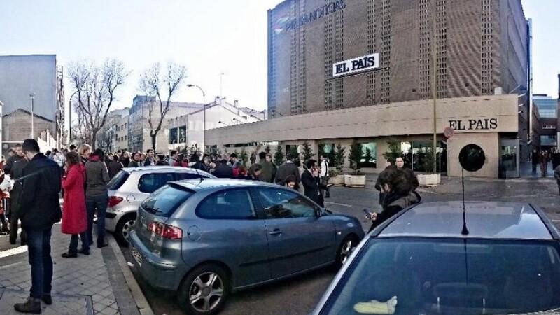 Sediul celui mai mare trust media din Spania, evacuat de urgenta. Un pachet suspect a fost gasit in imobil