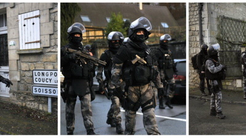 Presupusii teroristi, cautati de peste 30 de ore. S-au ascuns la nord de Paris, zona plasata sub nivel maxim de alerta