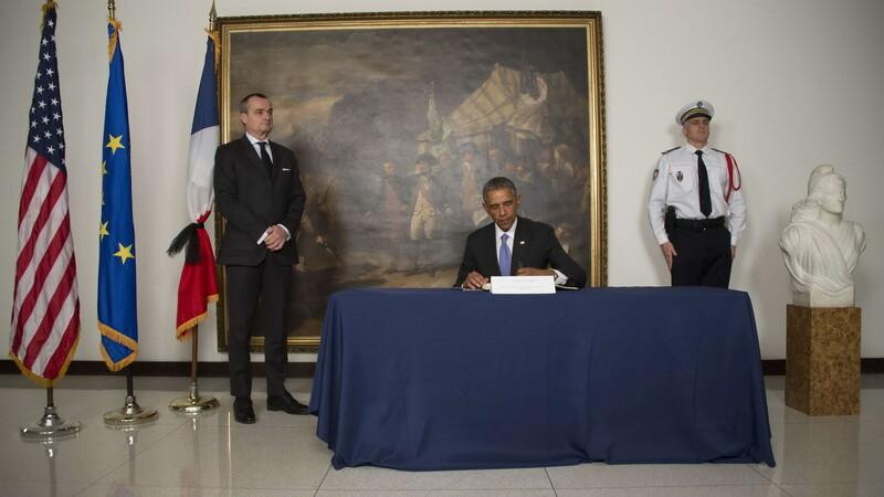 Barack Obama si ambasadorul Frantei, Gérard Araud