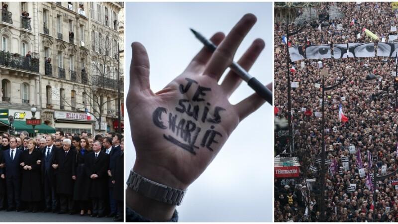 Parisul, capitala lumii care spune NU terorismului. 1,5 MILIOANE de oameni si 50 de lideri straini la marsul solidaritatii