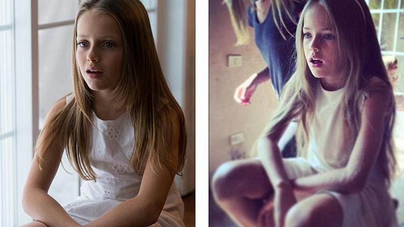 Cum arata sosia Kristinei Pimenova, cea mai frumoasa fetita din lume. Seamana atat de mult incat si ele se confunda in poze