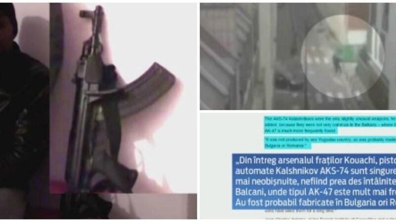 The Telegraph: Armele folosite de teroristi in atacurile din Franta, POSIBIL fabricate in Romania