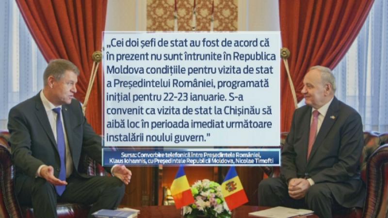 Victor Ponta si Klaus Iohannis si-au anulat vizitele la Chisinau, din cauza crizei politice din R. Moldova
