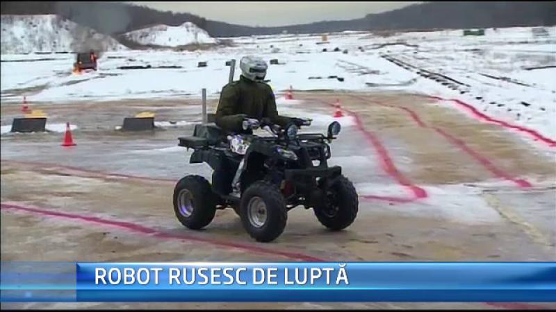 STIRI EXTERNE PE SCURT. Putin, prezent la demonstratia primului robot umanoid de lupta, creat de cercetatorii rusi