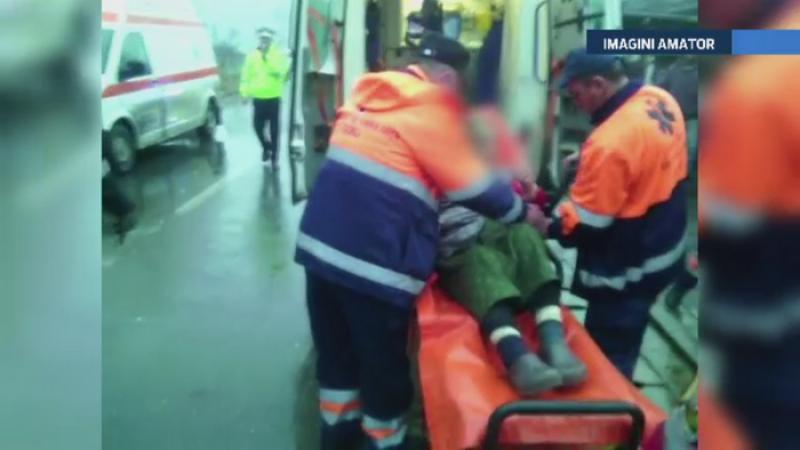 Explozie violenta in Gorj. O batrana a fost ranita dupa ce a incercat sa aprinda focul la soba