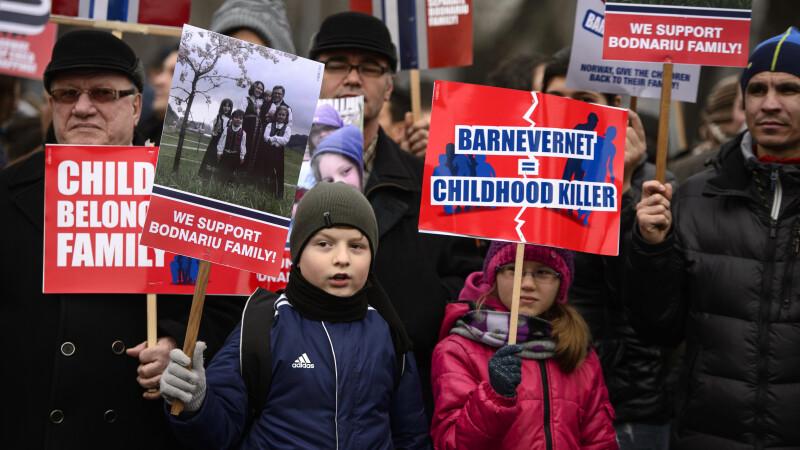 familia Bodnariu, proteste