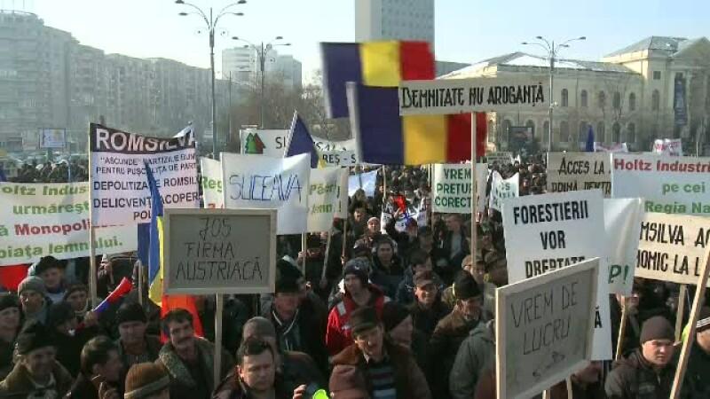 Protest pret lemn