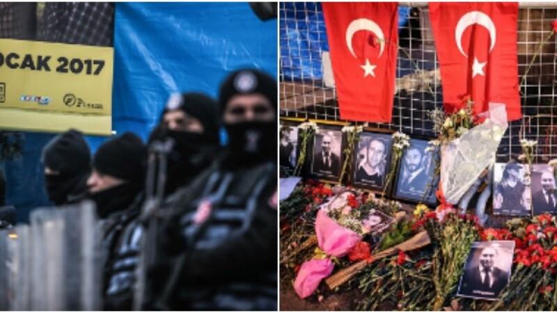 Teroristul din Istanbul a venit cu un taxi la club si a tras 180 de gloante. Imaginile surprinse de camere in fata localului