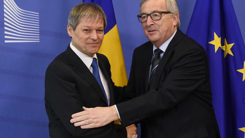 Juncker, mesaj pentru Ciolos: Ati asigurat o perioada de guvernare transparenta, fara precedent in istoria recenta a Romaniei