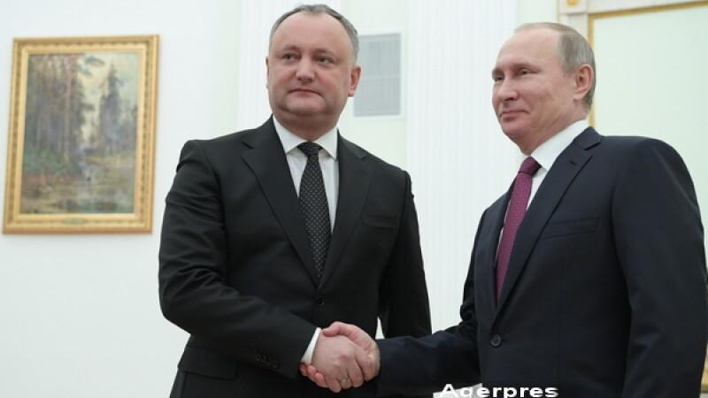 Igor Dodon s-a intalnit cu Vladimir Putin la Moscova. Vrea sa anuleze Acordul de Asociere al R. Moldova cu UE. VIDEO