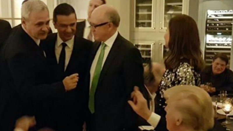 Liviu Dragnea a anuntat ca a luat cina cu Donald Trump: