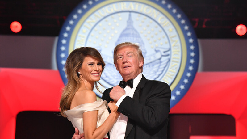 Donald Trump, la petrecerea de investire: