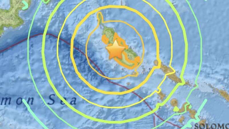Cutremur cu magnitudinea 8 in Papua Noua Guinee.