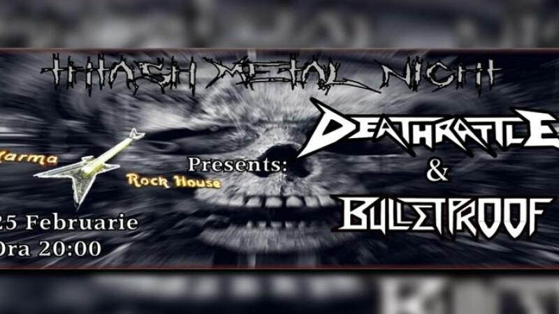Concerte de thrash metal si crossover la Targoviste, cu trupele romanesti Bulletproof si Deathrattle