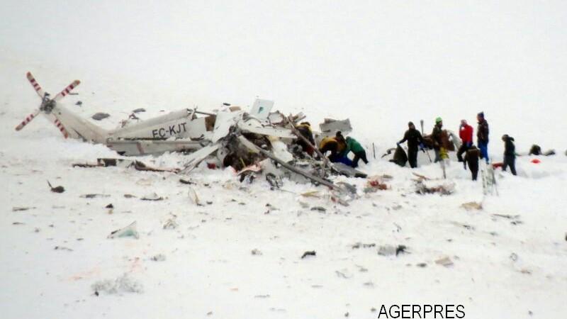 Un elicopter al serviciilor de salvare italiene s-a prabusit intr-o zona montana. Sase oameni au murit