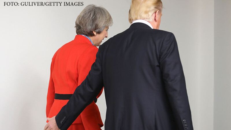 Donald Trump s-a intalnit cu premierul britanic, Theresa May. Ce i-a transmis presedintele american despre NATO