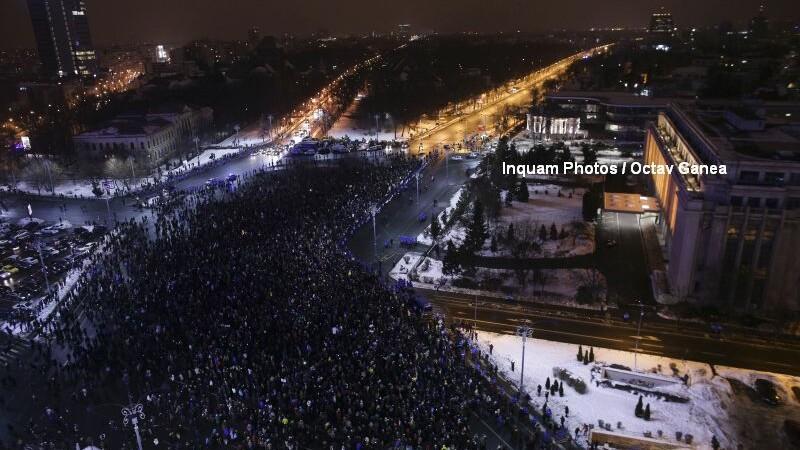 45.000 de oameni au protestat in Capitala fata de Gratiere. Au