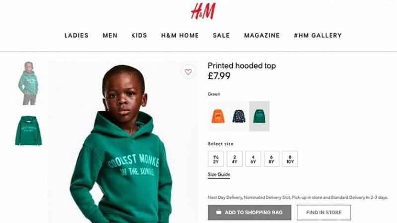 Campanie H&M retrasă după acuzaţii de rasism.