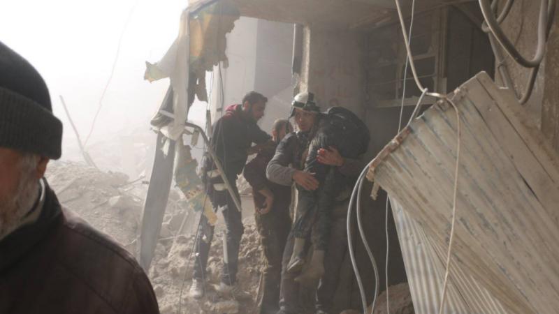 Cel puțin 24 de civili, între care 10 copii, uciși în raiduri aeriene lângă Damasc