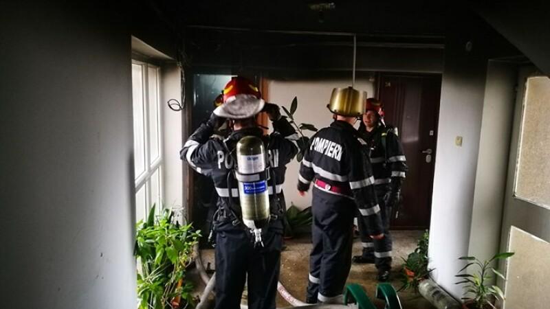 Incendiu într-un apartament din Dorobanți: bărbat, transportat la spital