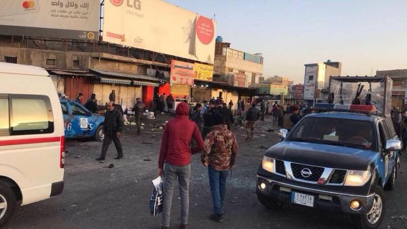 Dublu atentat în centrul Bagdadului. 35 de persoane au murit, 90 au fost rănite