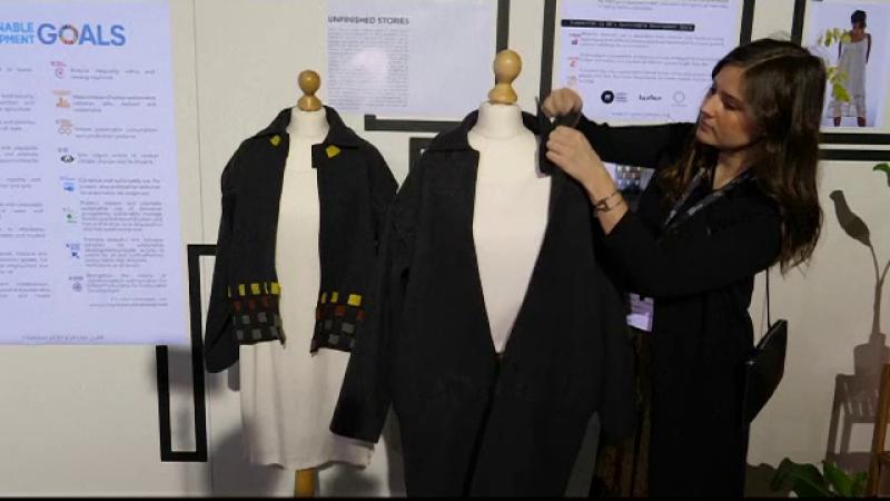 Moda viitorului: haine făcute din treninguri vechi și genți din frunze de ananas