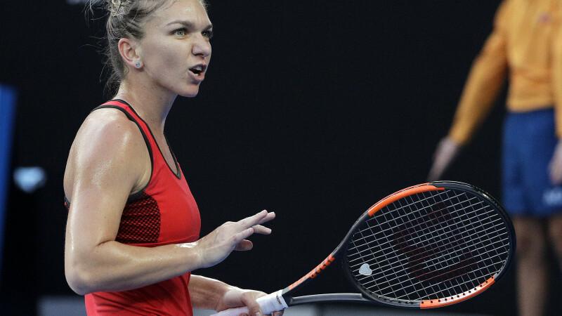 Simona Halep - Ekaterina Makarova 6-3, 6-0, la Doha. Românca s-a calificat în optimile turneului