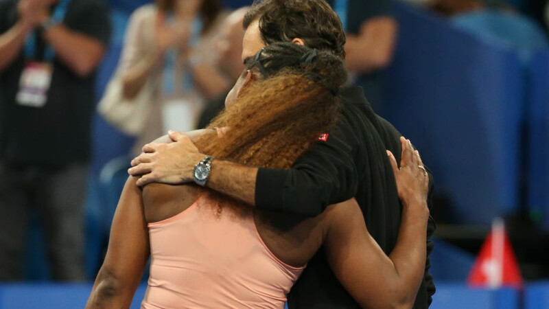 Serena Williams si Roger Federer