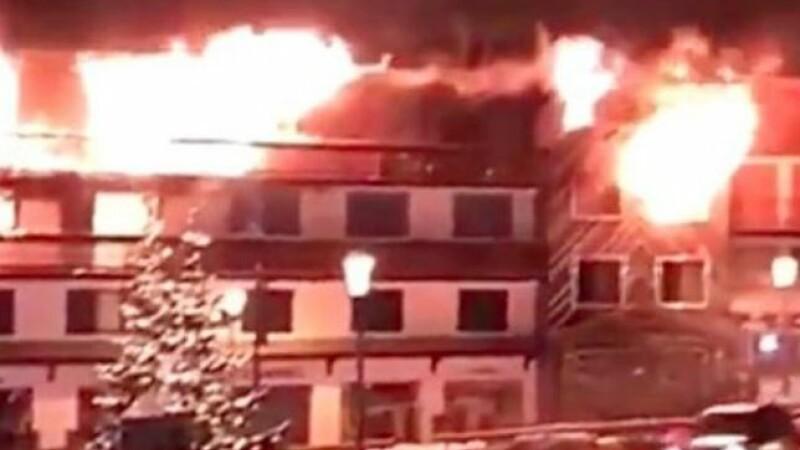 Courchevel, incendiu, statiune